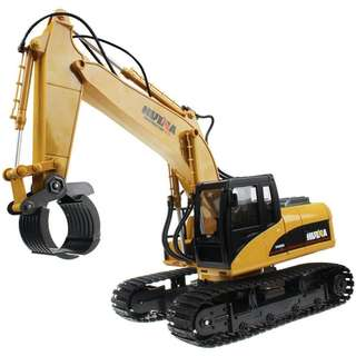 HUINA 16 Channel 2.4G RC Alloy Timber Grab Excavator