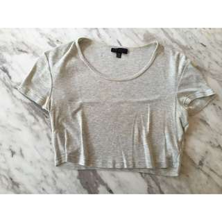 Top Shop Crop Top Grey