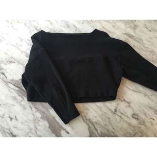 H&M Crop Long Sleeve Jumper/ Top