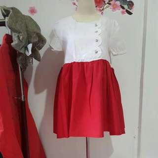 Babydoll Merah Putih