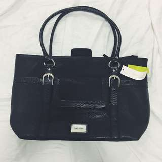 Black Laura Jones Leather Handbag