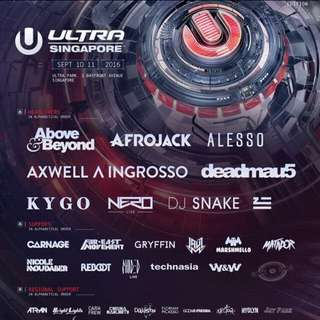 BUYING DAY 2 Tickets Ultra Singapore