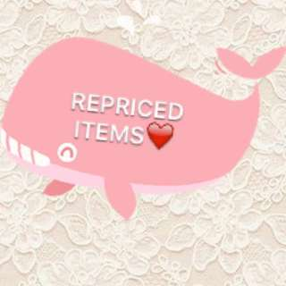 REPRICED ALL ITEMS. UP TO 10-15% OFF