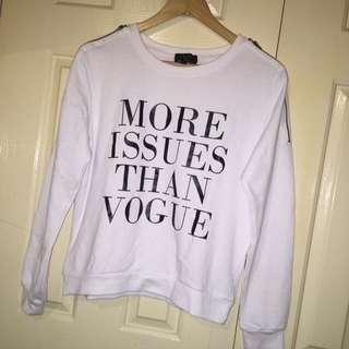 Slogan Sweater | Size S
