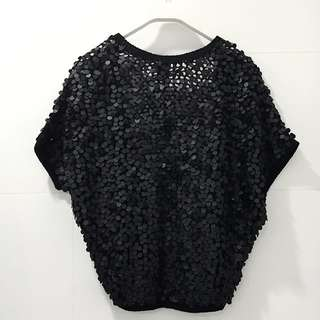 Bird by Juicy Couture Merino-Cashmere Blend Sequinned Bolero