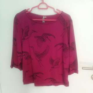 Pink Top ( Bought At bandung Mode House) <OFFER NOW> From $8 To $5