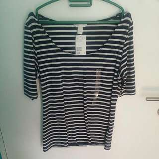 H&M Stripes TOP <OFFER NOW> From $10 To $7