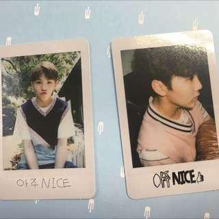 SEVENTEEN (17) - SEUNGKWAN & Woozi PHOTOCARDS