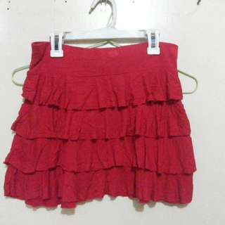 Red Girly Skirt