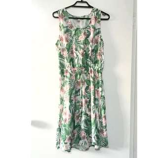 Tropical Green Day Dress