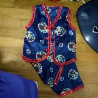 Silk Chinese  New Year Suit