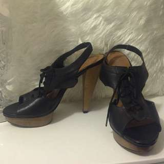 **PENDING** Sz 8 | Black Lace Up High Heels by Betts