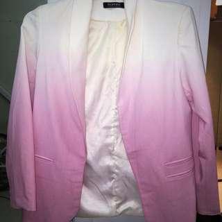Romwe Pink And White Jacket