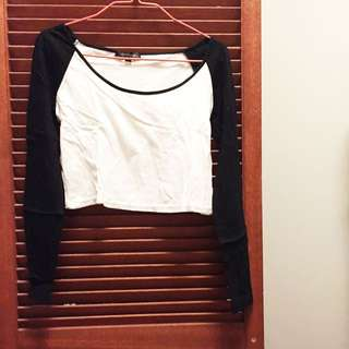Black And White Crop Top Size XXL
