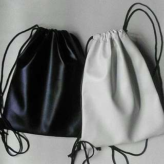 Leather Draw String Bags