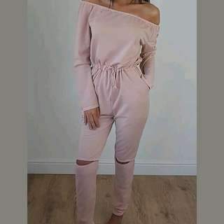 Light Pink Jumpsuit Size Medium Pm Me If interested(sold)