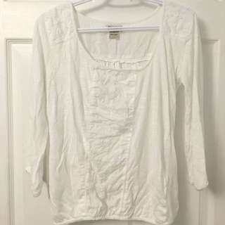 White Lucky Brand Peasant Top