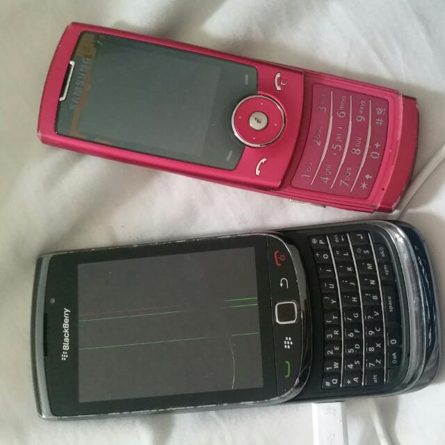 2 Mobile Phones -Samsung And Blackberry