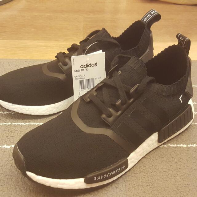 Adidas NMD R1 PK 日文黑白US9.5