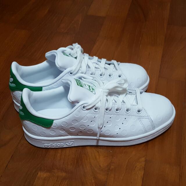 Adidas Stan Smith Green w White Polka Dots f909c4003