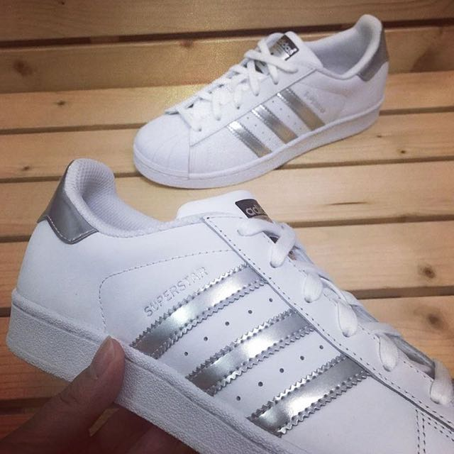 Adidas Superstar 銀標 白銀