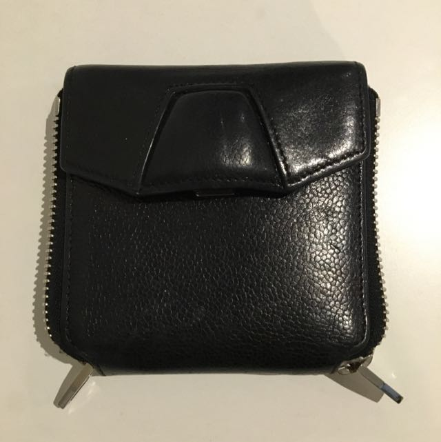 Alexander Wang Leather Zip Buckle Wallet