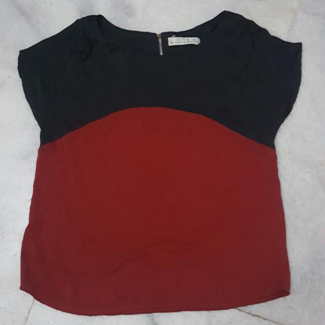 Black N Red Blouse