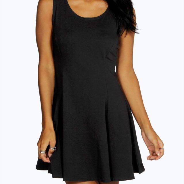 Black Skater Dress Size 6
