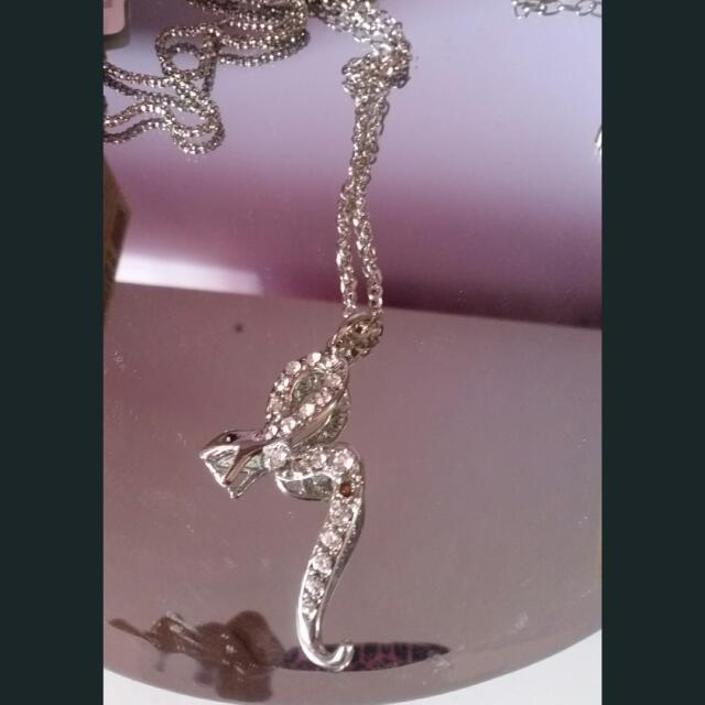 Bling Snake Long Necklace  So Pretty