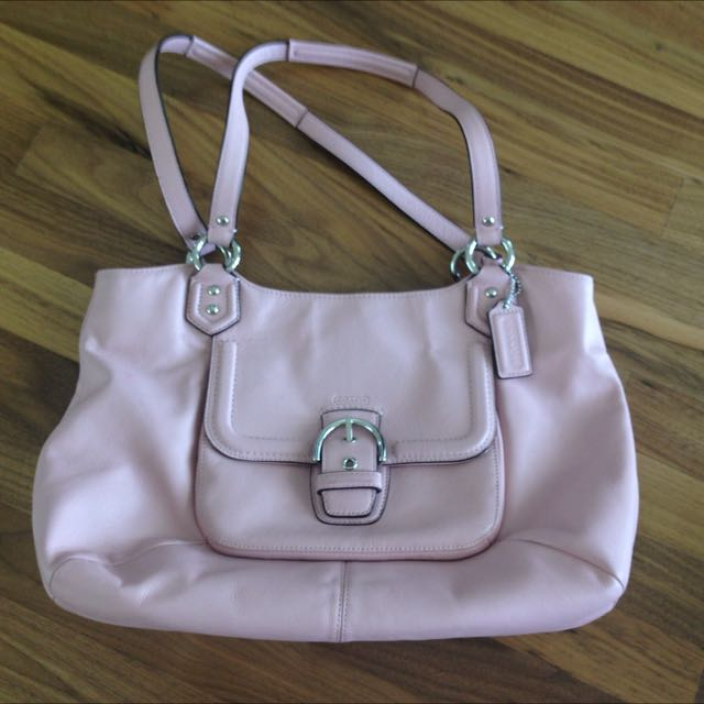 Coach Leather Purse Pink