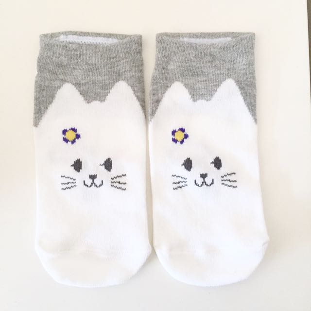 Cute Kitty Ankle Socks