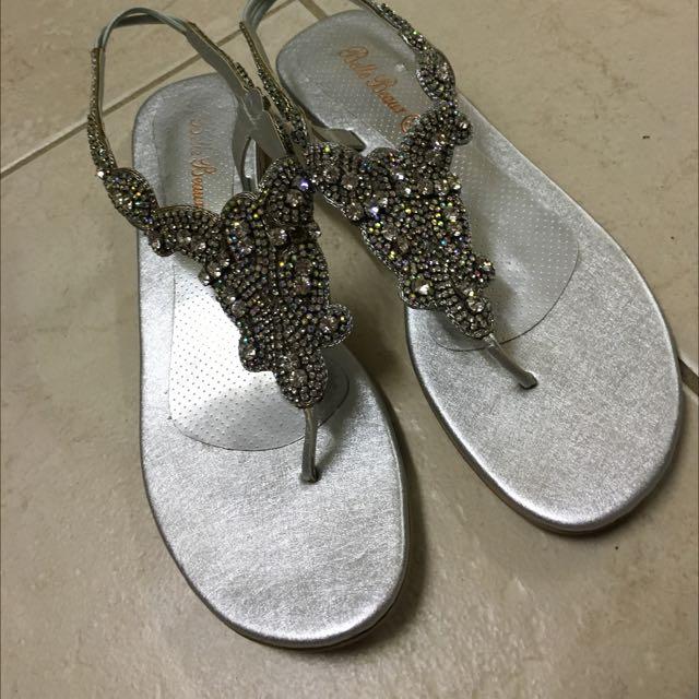 Diamanté Wedding Sandals