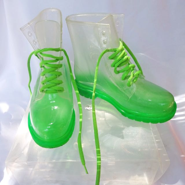 Doctor Green Transparant Boots