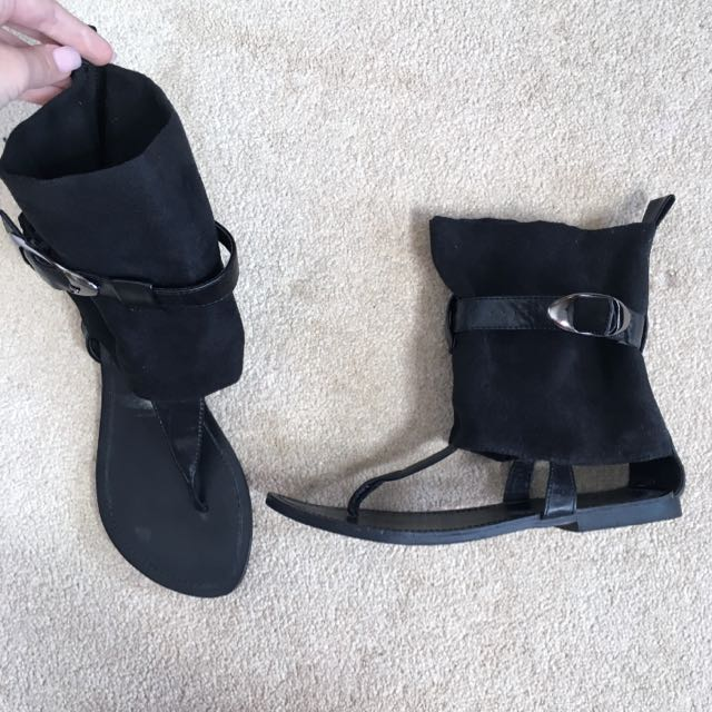 Dollhouse Black Sandals
