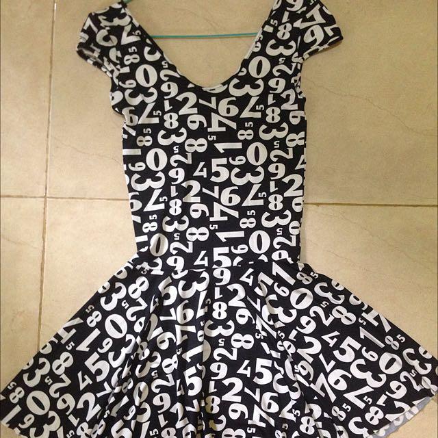 Dress Mini Angka
