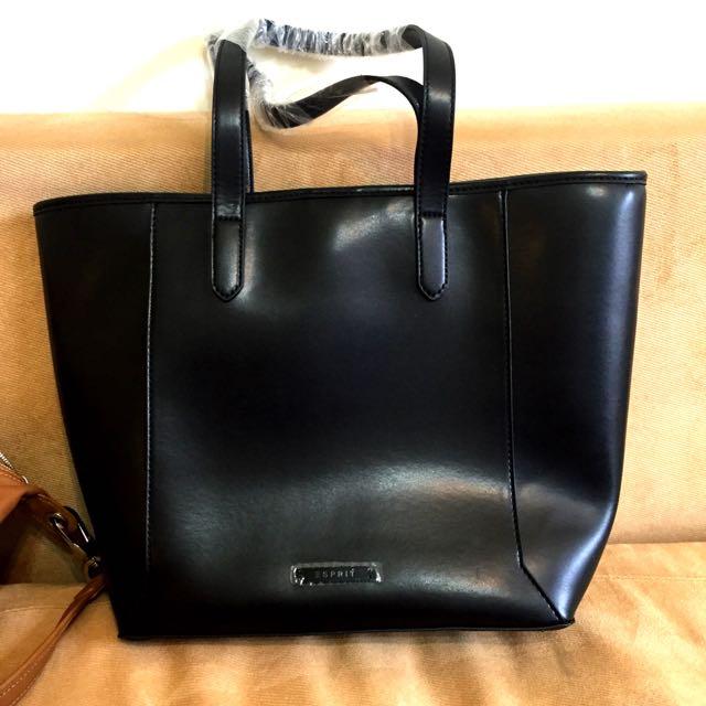 降價 全新Esprit 黑色托特包