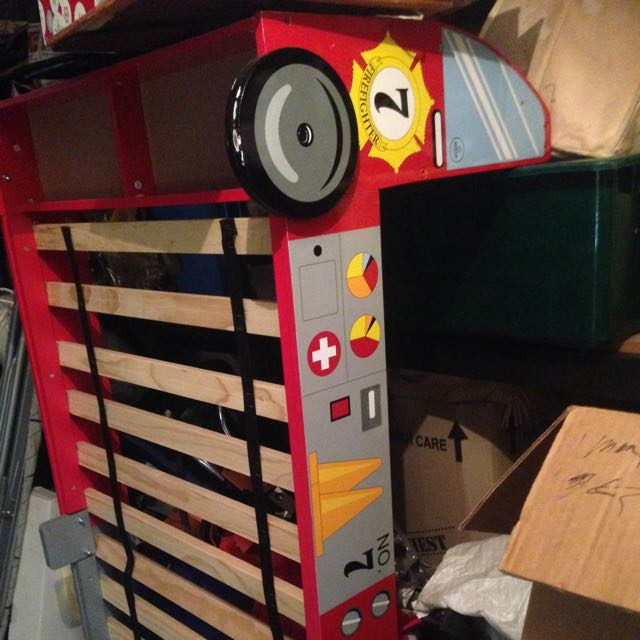 Fire Truck Child's Bed