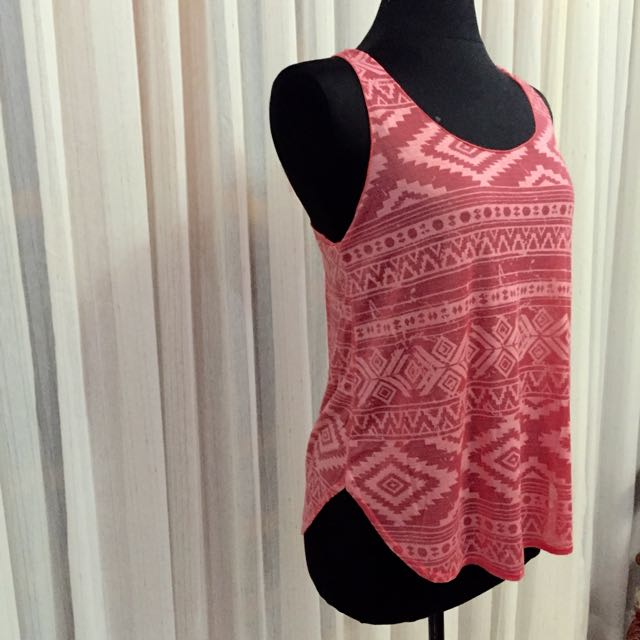 Forever21 Pink Aztec Tank