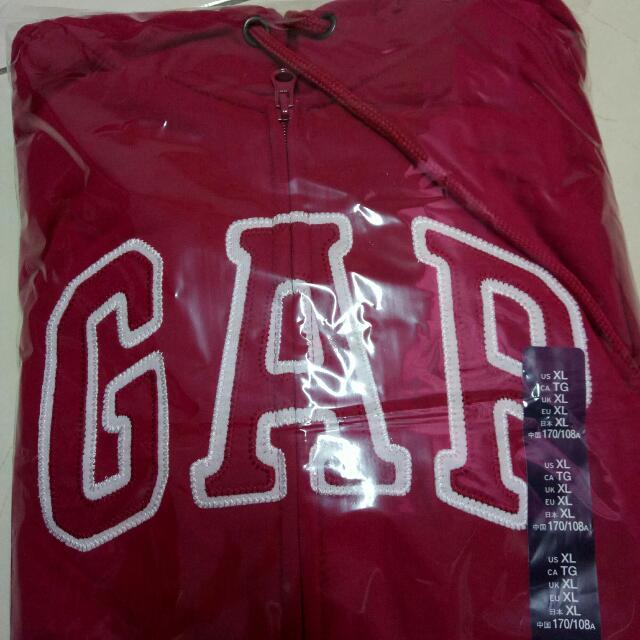 GAP全新正品代購! 帽子有抽繩的外套 只有一件深紅XL,🎉超級特價890含運!!! 全新售出不退!