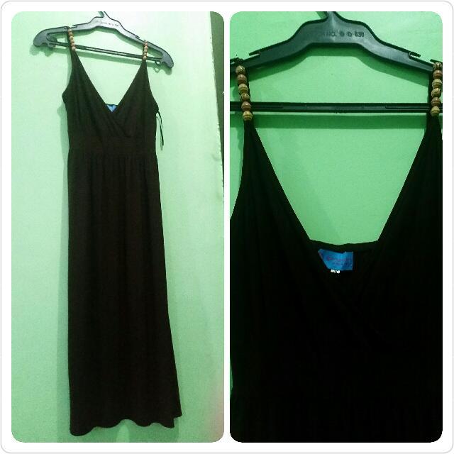 Genevieve Gozum Brown Dress