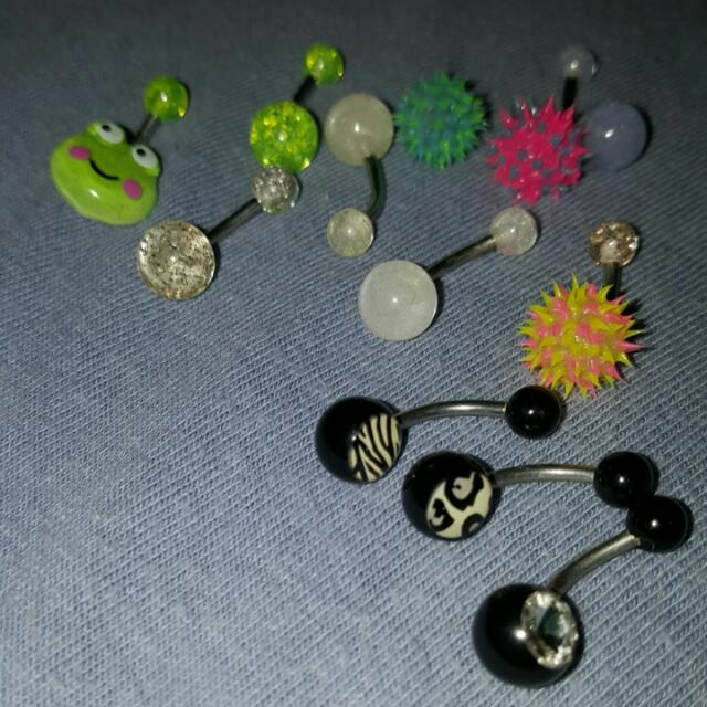 Glow In The Dark Belly Rings Together Or Separate