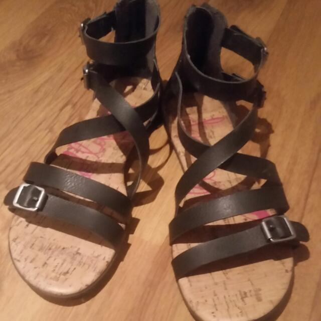 Jelly Pop Leather Sandals