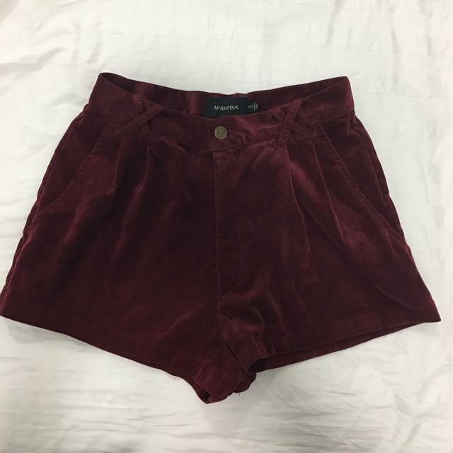 MINKPINK Corduroy Shorts