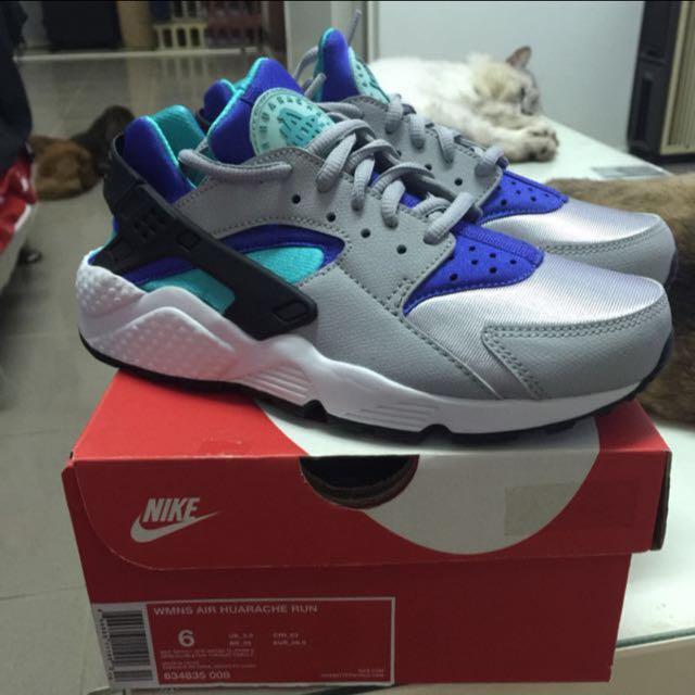 NIKE WMNS AIR HUARACHE 藍綠灰 武士鞋 降價出售