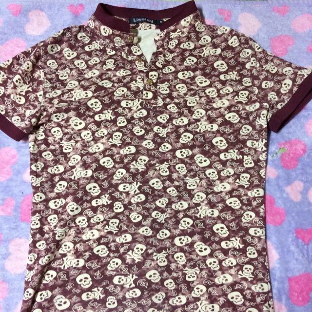 Printed skull shirt