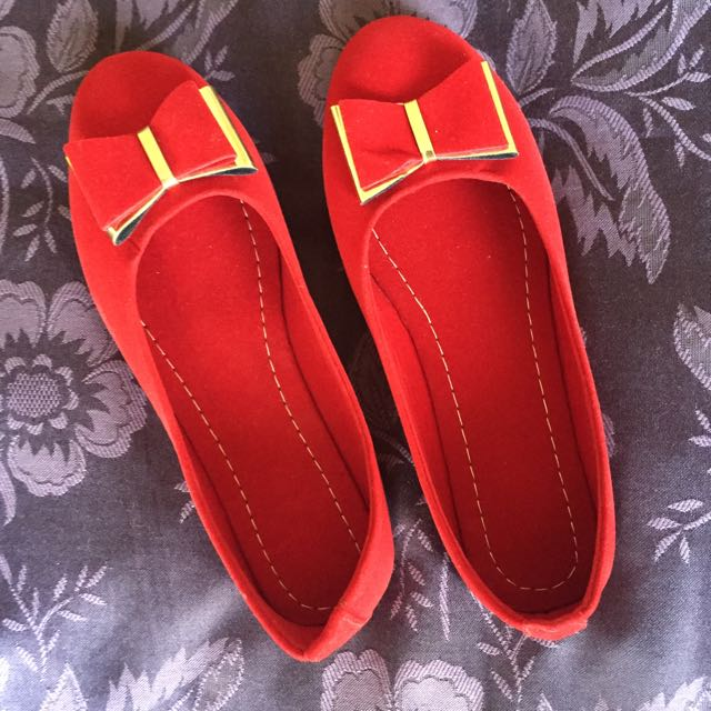Red Bow Flats - Size 7