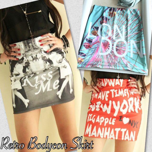 Retro Bodycon Skirt ( 3 Pcs Left )