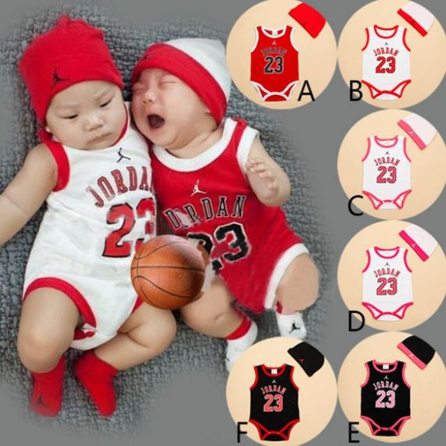 🌞LAST PIECE SALE🌞 - size 95 - 2pc SET MICHAEL JORDAN BASKETBALL JERSEY  BABY BOY CASUAL KIDS CHILDREN ONESIES ROMPER fd4d8e438