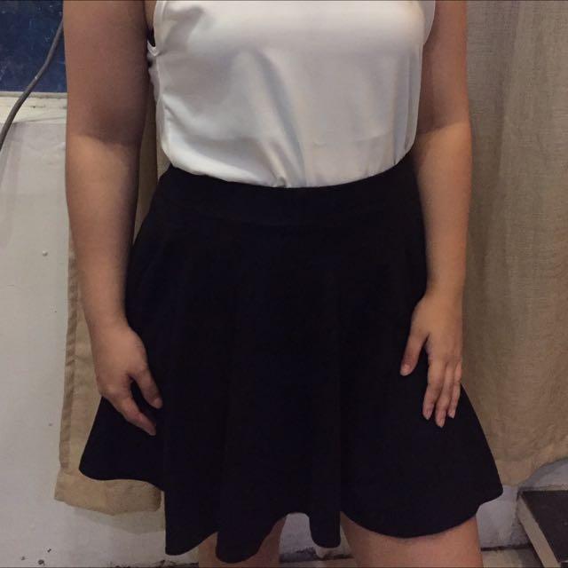Suede Skater Skirt
