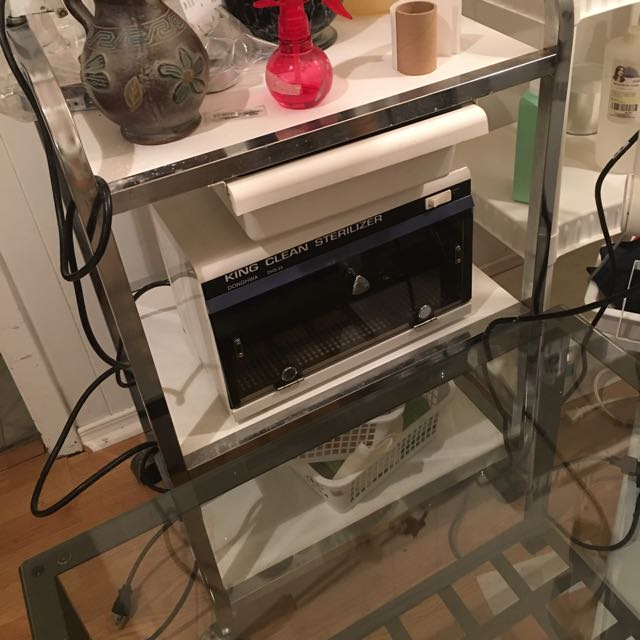 Troly For Salon Use And Also Towel Warmer In Good Condition